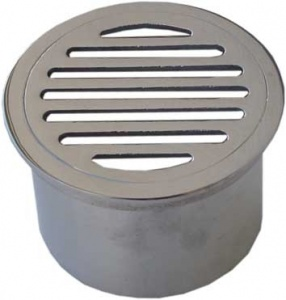 Round slotted grate long tail