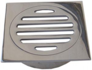 square slotted chrome grate