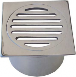 square slotted chrome grate long tail